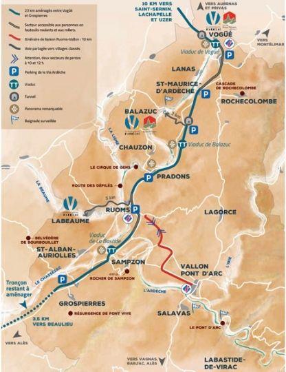 Carte-Voie-Verte-Via-Ardèche